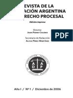 Revista de la Asociación Argentina de Derecho Procesal, Año I, N°1, Diciembre 2006