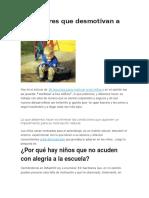 10 Factores Que Desmotivan a Los Niños