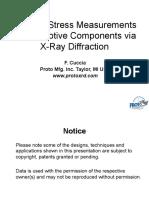 X RAY Residual Stress