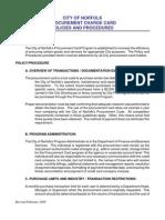 Bank of America Procurement Card Program Policies Procedures