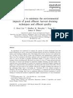Management to Minimize Environmental Impact