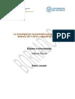 Borrador Del Documento Empleo e Informalidad