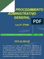 Ley Procedimiento Administrativo General.ppt