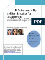 IBM RAD Performance Tips and Best Practices for Development