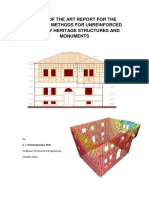 STATE OF THE ART REPORT FOR THE ANALYSIS METHODS FOR UNREINFORCED MASONRY HERITAGE STRUCTURES AND MONUMENTS