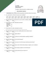 Diagnostic Survey