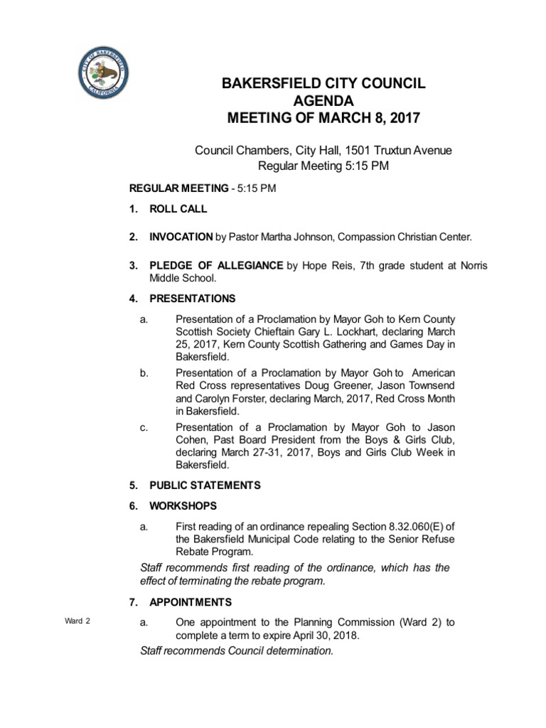 Bakersfield city council agenda for march 8 2017 tax refund bakersfield city council agenda for march 8 2017 tax refund transport malvernweather Images
