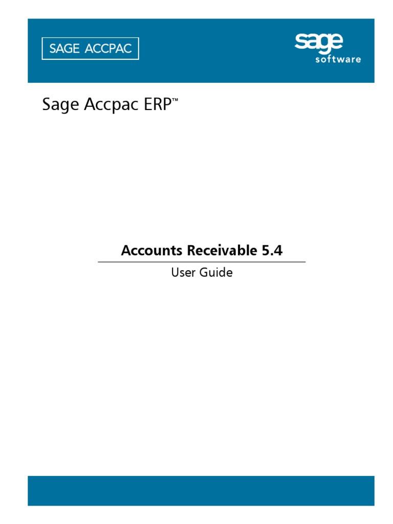 Accpac Guide Manual for AR User Guide pdf Receipt Debits