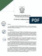 REsolución N°069-2017-SINEACE-CDAH-P