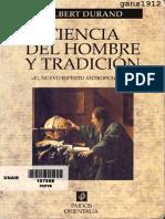 DURAND, G. - Ciencia Del Hombre y Tradición (El Nuevo Espíritu Antropológico) [Por Ganz1912]