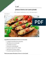 Berenjenas Al Horno Con Carne Picada - Recetasgratis.net
