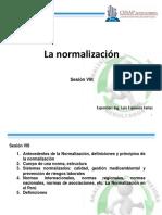 Modulo 5 Sesion VIII La Normalizacion