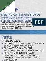 El Banco Central, el Banco de México y los organismos económicos internacionales.