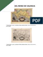 Mapas del Reino de Valencia