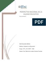 PERSPECTIVA NACIONAL DE LA CALIDAD EDUCATIVA