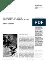 El Concepto de Límite en El B-MU de Francois Roche