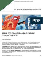 10 Dulces Ideas Para Una Fiesta de Buscando a Dory – Luz Angela