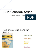 Sub-Saharan Africa Physical Features and Climate