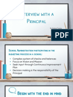 interview with principal