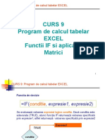 Curs 9 S1 - Program de Calcul Tabelar EXCEL
