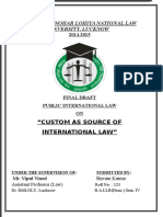 PIL-Custom as a Source of International Law