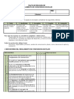 Pauta de Revisión Manual - Reglamento de Convivencia - Constanza