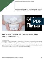 Tartas Individuales y Mini Cakes, Una Para Cada Invitado – Luz Angela