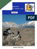 2010 Pescadero Creek Flow Behavior UCSC Newsletter