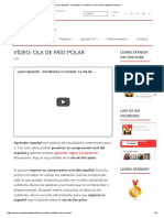 Learn Spanish - Vocabulary in Context_ La Ola de Frio _ Spanish Podcast