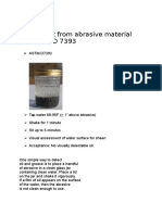 Oil Content From Abrasive Material Per ASTM D 7393
