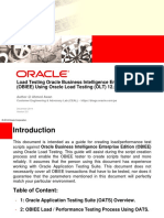 Load Testing Oracle Business Intelligence Enterprise Edition OBIEE Using Oracle Load Testing v2