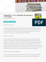 Adosphere 1 a1 Methode de Francais 1 CD Audio