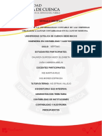 Analisis de La Informalidad Contable de Las Empresas Obligadas a Llevar Contabilidad en El Canton Morona.