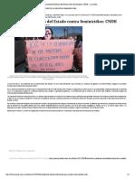 Insuficiente Esfuerzo Del Estado Contra Feminicidios_ CNDH - La Jornada