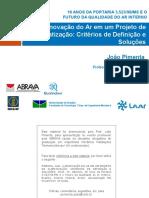 Renovação Do Ar Em Um Projeto de Climatização_Critérios de Definição e Soluções_UnB