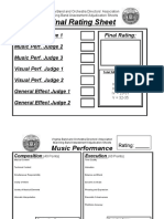 Marching Assessment Sheets