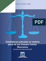 Estadisticas Judiciales 2001