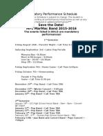 hs mandatory performance schedule