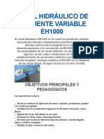 Canal Hidráulico de Pendiente Variable Eh1000