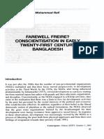 Farewell Freire. Conscientisation in Early Twenty-first Century Bangladesh. FALTA