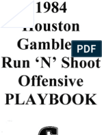 1984 Houston Gamblers Run n Shoot by Mouse Davis