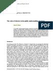 Role of Rhetoric in Public Unerstading of Science
