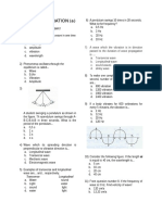 Exam Chapter Wave and Vibration (a)