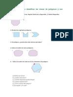 Ejercicios Mecánicos Identificar Polígonos y Sus Elementos