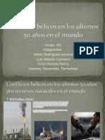 Conflicto Bélicos en Los Últimos 50 Años EnQWE