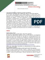 2015 08 26 - Foncodes - Sintesis Informativa