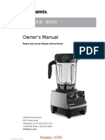 Vitamix 6500 Owner's Manual