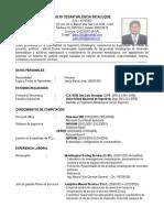 Curriculum Vitae-Julio Valencia