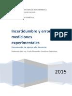 Incertidumbre Experimental y Errores en Las Mediciones
