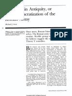Bureaucratization of Roman Army